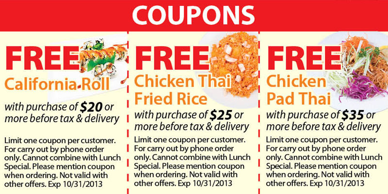 free entree coupons